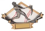 Baseball Diamond Star Plate Resin Trophy Diamond Plate Resin Trophies