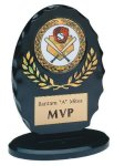 Black & Gold Standing Oval Sculpted Ice Award Economy Acrylic Awards