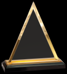 Gold Triangle Impress Acrylic Employee Awards