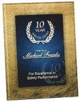 Gold & Blue Acrylic Art Plaque Award Employee Awards