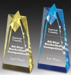 Sculpted Star Acrylic Award Employee Awards