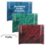 Marbleized Acrylic Crescent Awards Employee Awards