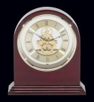 Plymouth Rosewood Piano Finish Desktop Clock Employee Awards