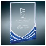 Blue Soaring Rectangle Acrylic Employee Awards