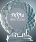 Crystal Plate with Base Employee Awards