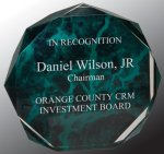 Green Marble Octagon Acrylic Award Employee Awards