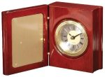Rosewood Piano Finish Book Clock Executive Gift Awards