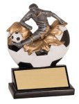 Male Soccer Explosion Resin Trophy Explosion Resin Trophies