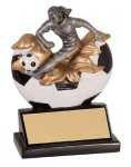 Female Soccer Explosion Resin Trophy Explosion Resin Trophies