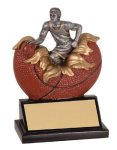 Male Basketball Explosion Resin Trophy Explosion Resin Trophy Awards