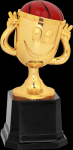 Happy Cup Basketball Trophy Figure on a Base Trophies