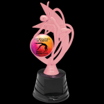 Customized Pink Dance Trophy Figure on a Base Trophies