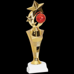 Three Star Basketball Trophy Figure on a Base Trophies