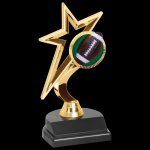 Gold Star Football Trophy Figure on a Base Trophies