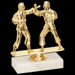 Double Martial Arts Karate Trophy Figure on a Base Trophies