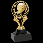 Midnight Star Basketball Trophy Figure on a Base Trophies