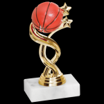 Twisted Basketball Trophy Figure on a Base Trophies