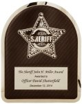 Sherrif's Department Badge on Black Background Hero Plaque Fire and Safety Awards