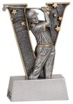 Male Golf V Series Resin Golf Trophy Awards