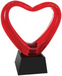 Art Glass Red Heart Heart Awards
