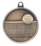 High Relief Volleyball Medal High Relief Medallion Awards