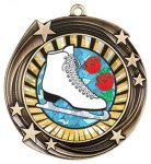 Swirling Star Insert Medal Holder Iceskating Trophy Awards