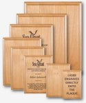 Red Alder Recognition Plaque Laser Engraved Plaques