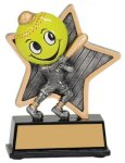 Softball Little Pals Resin Trophy Little Pals Resin Trophy Awards