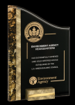 Gold/Black SunRay Award Marble Acrylic Awards