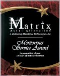 Red Marble Shooting Star Acrylic Award Recognition Plaque Marble Awards