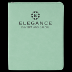 Teal Leatherette Portfolio With Zipper Misc. Gift Awards