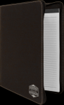 Leatherette Portfolio with Zipper -Black/Silver Misc. Gift Awards