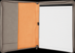 Gray Leatherette  Portfolio with Zipper Misc. Gift Awards
