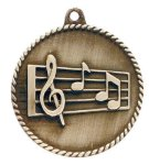 High Relief Music Medal Music Trophy Awards