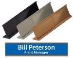 Metal Desk Name Plate Holder Name Plates/Desk Wedge