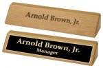 Red Alder Desk Wedge Name Plates/Desk Wedge