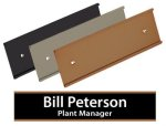 Metal Wall Name Plate Holder Name Plates/Desk Wedge