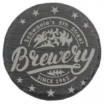 Black Slate Round Coasters Other Stone Awards