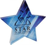 Full Color Star Acrylic Paperweight Paper Weights