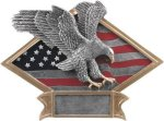 Eagle - Diamond Plate Resin Trophy Patriotic Awards