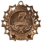 3rd Place Ten Star Medal Poker Trophy Awards