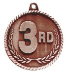 High Relief 3rd Place Medal Racing Trophy Awards
