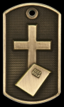 3-D Religion Dog Tag Medal Religious Awards