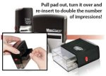 Rectangle Self Ink Stamps w/ Reversable Ink Pads Rubber Stamps