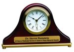 Piano Finish Mantel Desk Clock Sales Awards