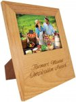 Genuine Red Alder 5 x 7 Picture Frame with Engraving Area Secretary Gift Awards