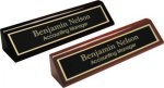 Piano Finish Desk Wedge Name Plates Secretary Gift Awards