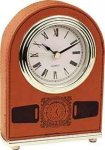 Rawhide Leatherette Arch Desk Clock Secretary Gift Awards