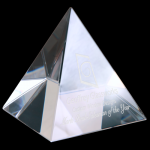 Crystal Pyramid Paperweight Secretary Gift Awards