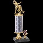 Double Action Football Trophy Single Column Trophies